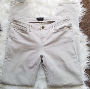 Massimo Dutti New Light Gray Skinny Jeans Size 6